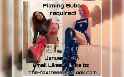 Filming Jan 18th 2020            Mistress Alexia and The FoXtress